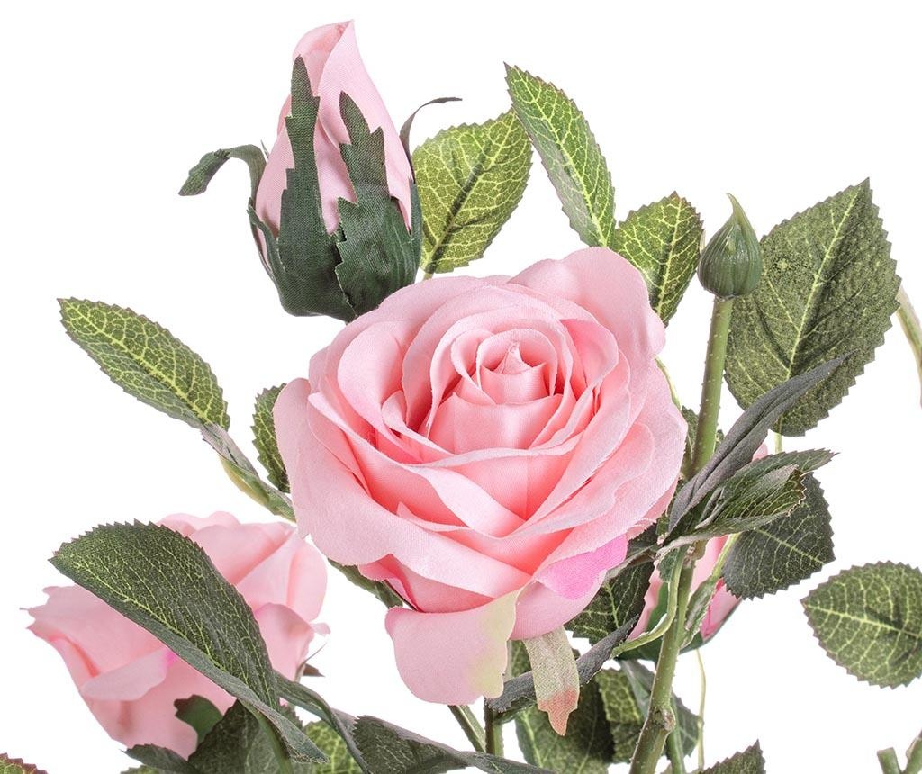 Umjetni cvijet u posudi za cvijeće Isabel Pink Rose
