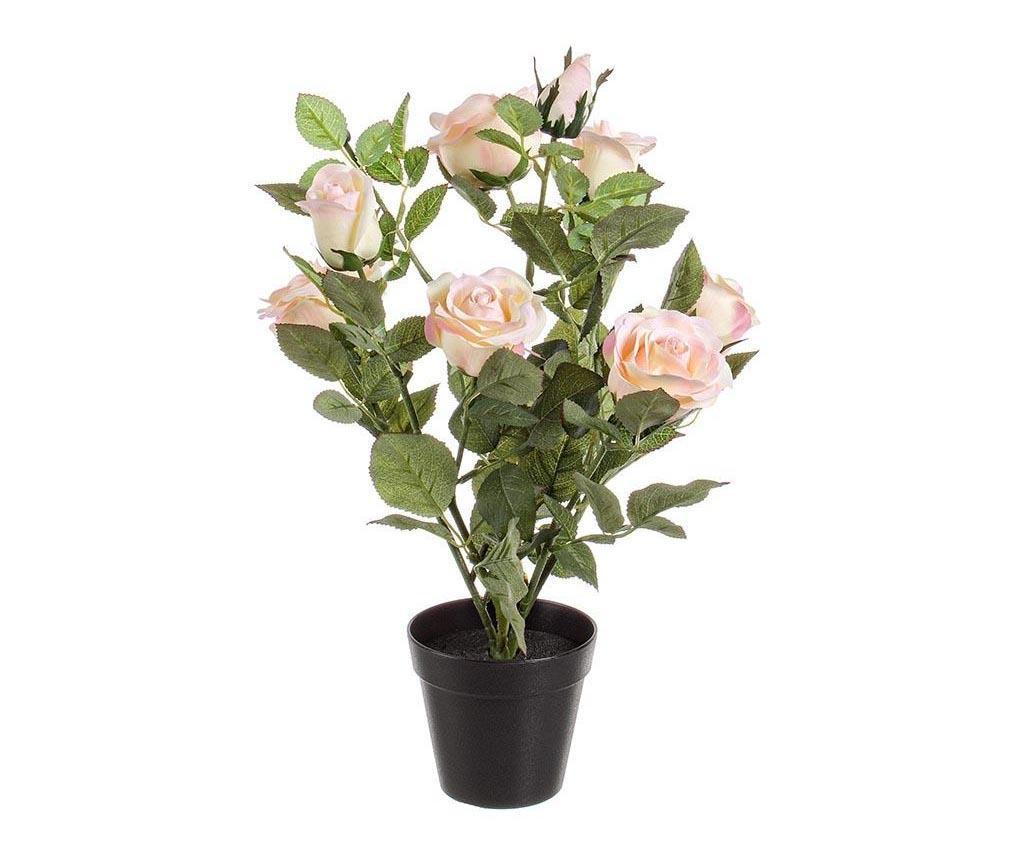 Umjetni cvijet u posudi za cvijeće Isabel Pale Pink Rose