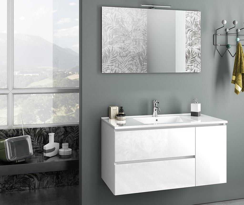 Set mobilier pentru baie 4 piese Febe Gloss White