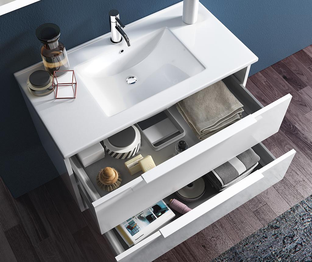 Czteroczęściowy zestaw mebli łazienkowych Febe Wenge