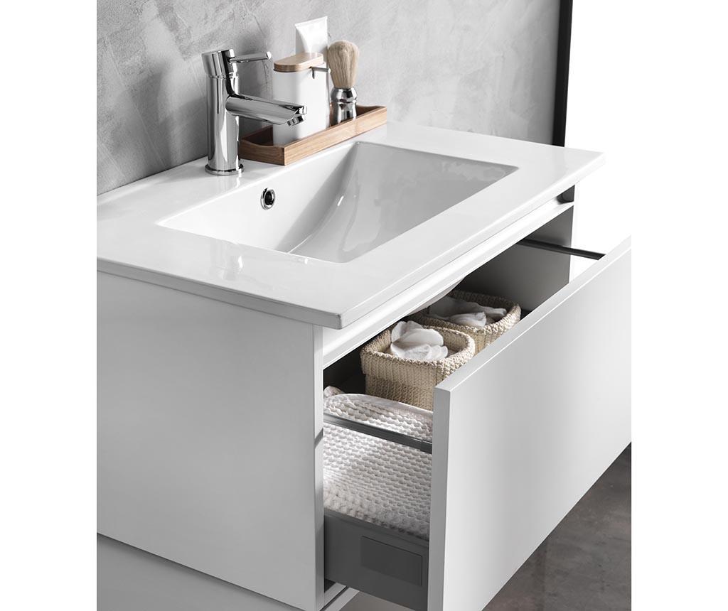 Czteroczęściowy zestaw mebli łazienkowych Ibiza Gena Matt White