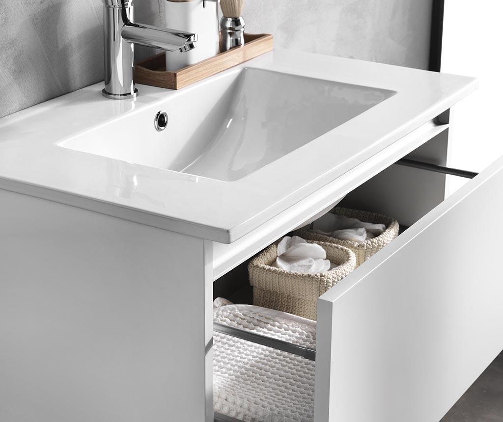Czteroczęściowy zestaw mebli łazienkowych Ibiza Ultra White