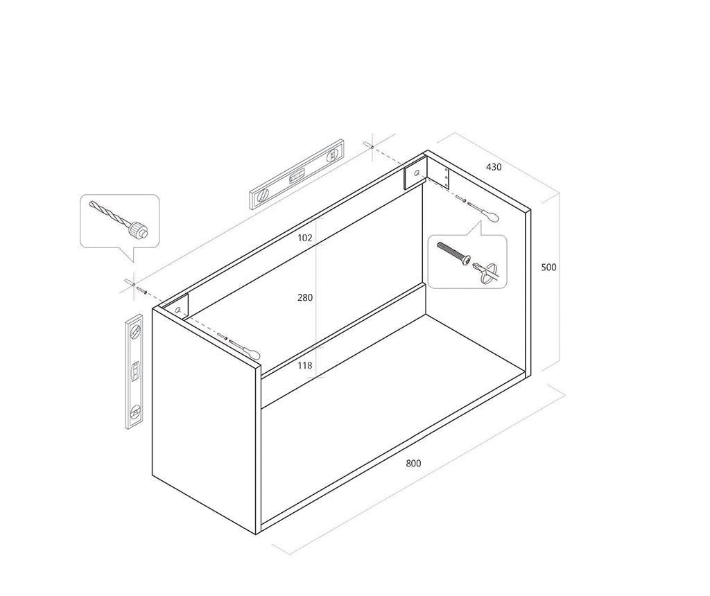 Sada nábytku do kúpeľne 4 ks Luna Misy Yuta