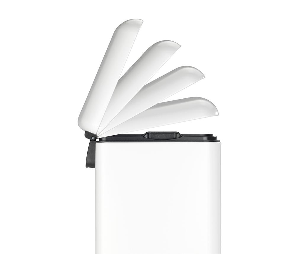 Easy Close White Fedeles szemeteskosár pedállal 30 L