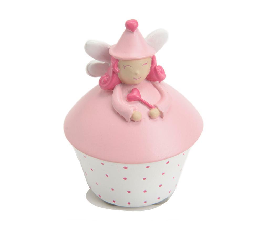 Cutie cu capac pentru dintisori Fairy Light Pink