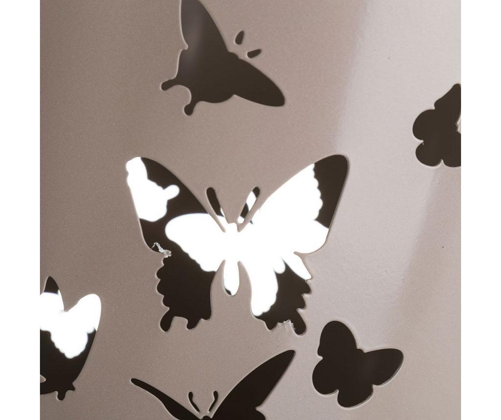 Cos de gunoi Butterflies Beige