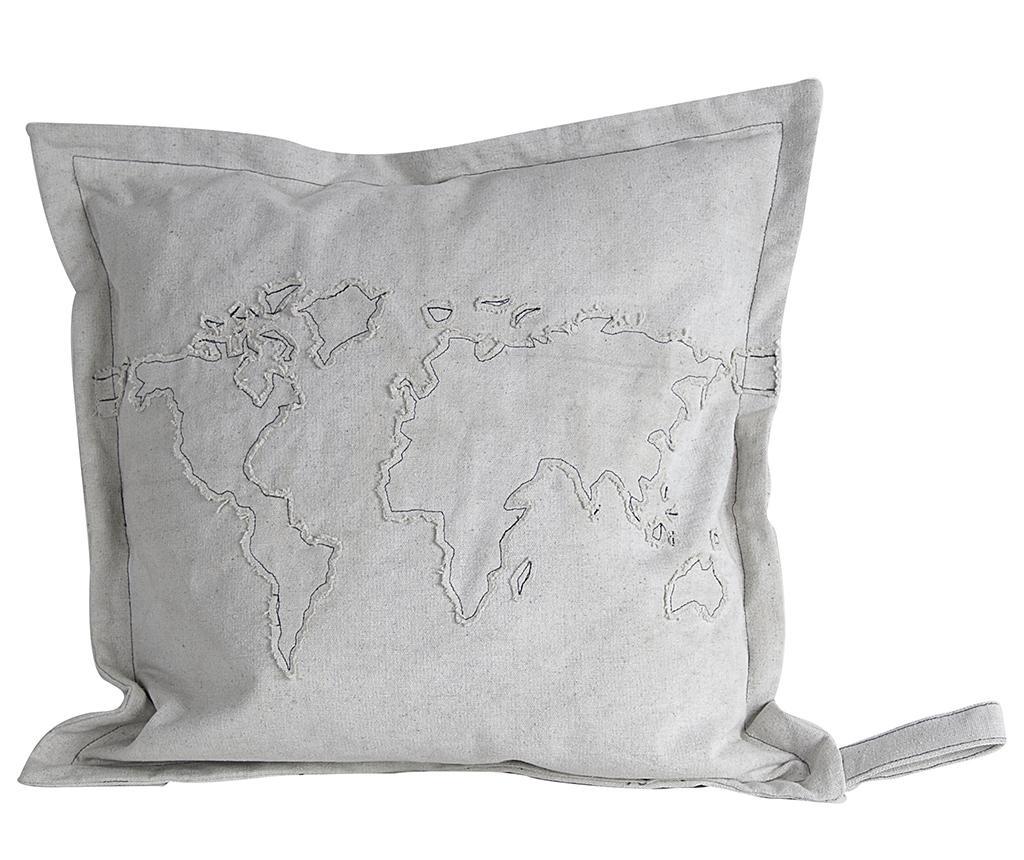 Διακοσμητικό μαξιλάρι Grey Map 51x51 cm