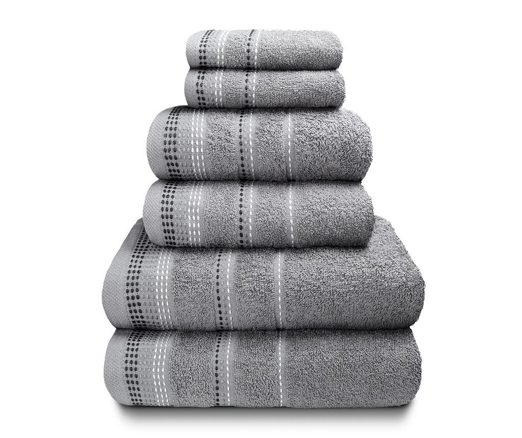 Set 6 kupaonskih ručnika Berkley Silver