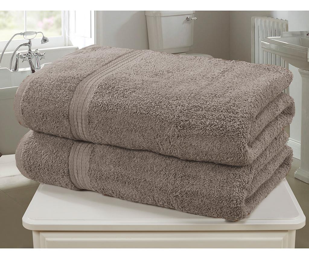 Set 2 kupaonska ručnika Royal Kensington Latte 90x140 cm