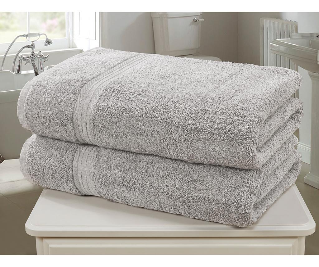 Set 2 kopalniških brisač Royal Kensington Silver 90x140 cm