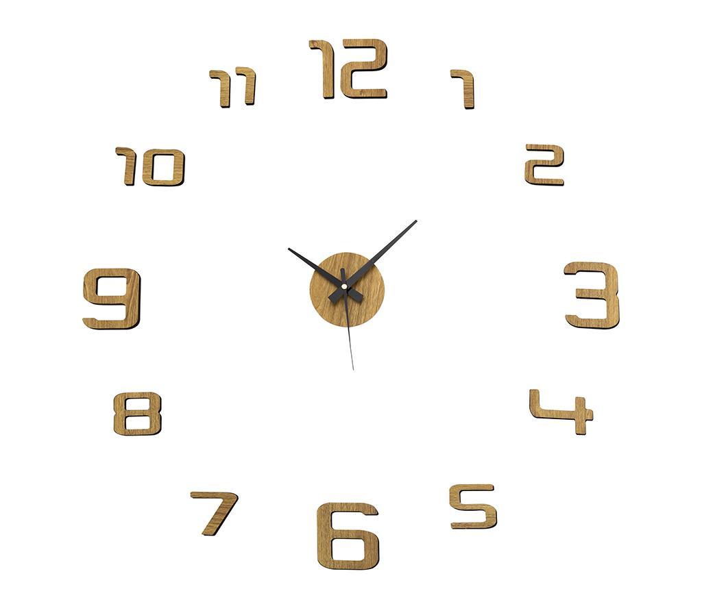 Αυτοκόλλητο ρολόι τοίχου Golden Round