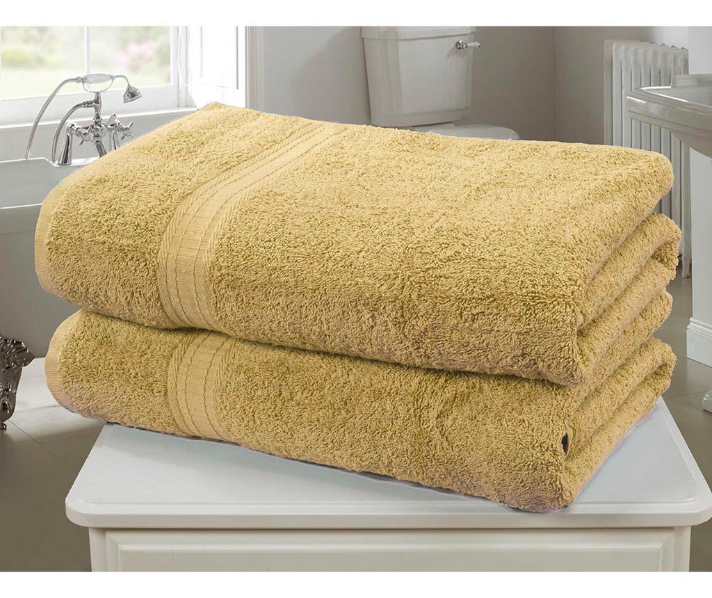 Set 2 kupaonska ručnika Royal Kensington Ochre 90x140 cm