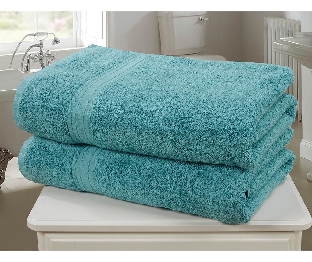 Set 2 kupaonska ručnika Royal Kensington Turquoise 90x140 cm