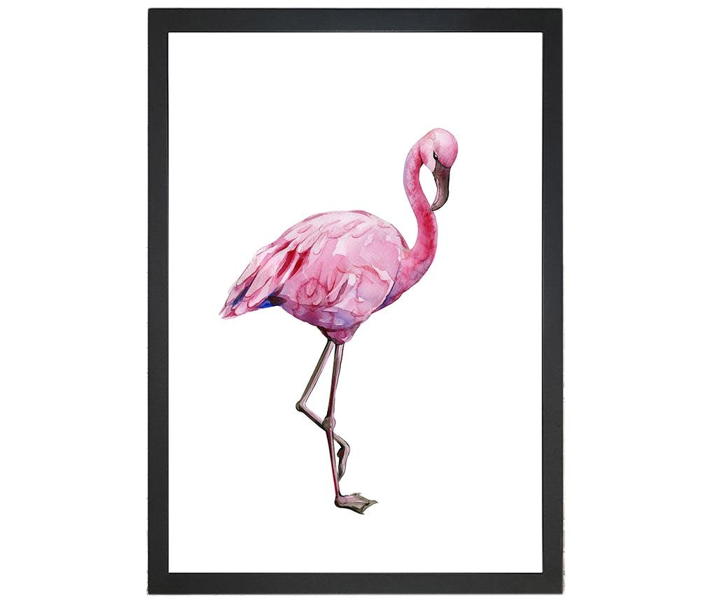 Obraz Jocelyn Flamingo 24x29 cm