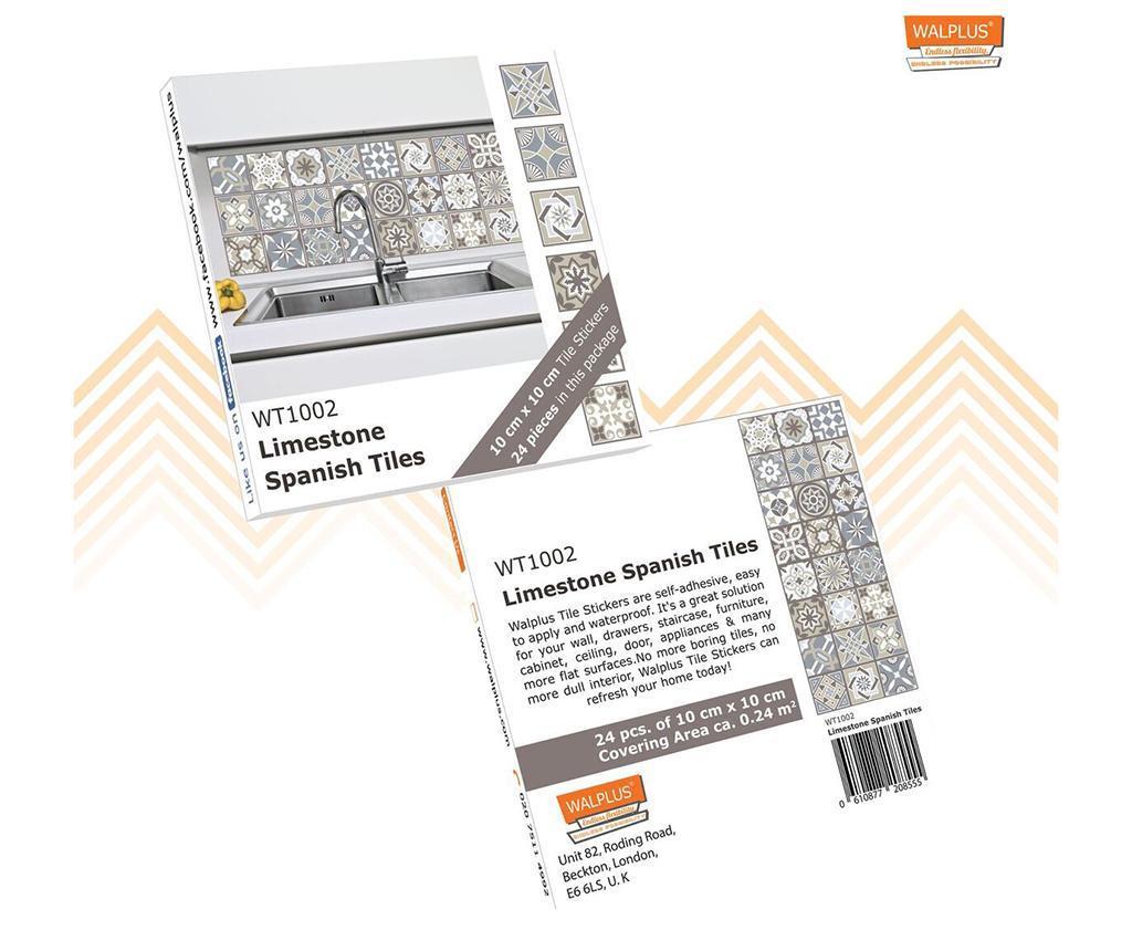 Set 24 stickere Limestone Spanish