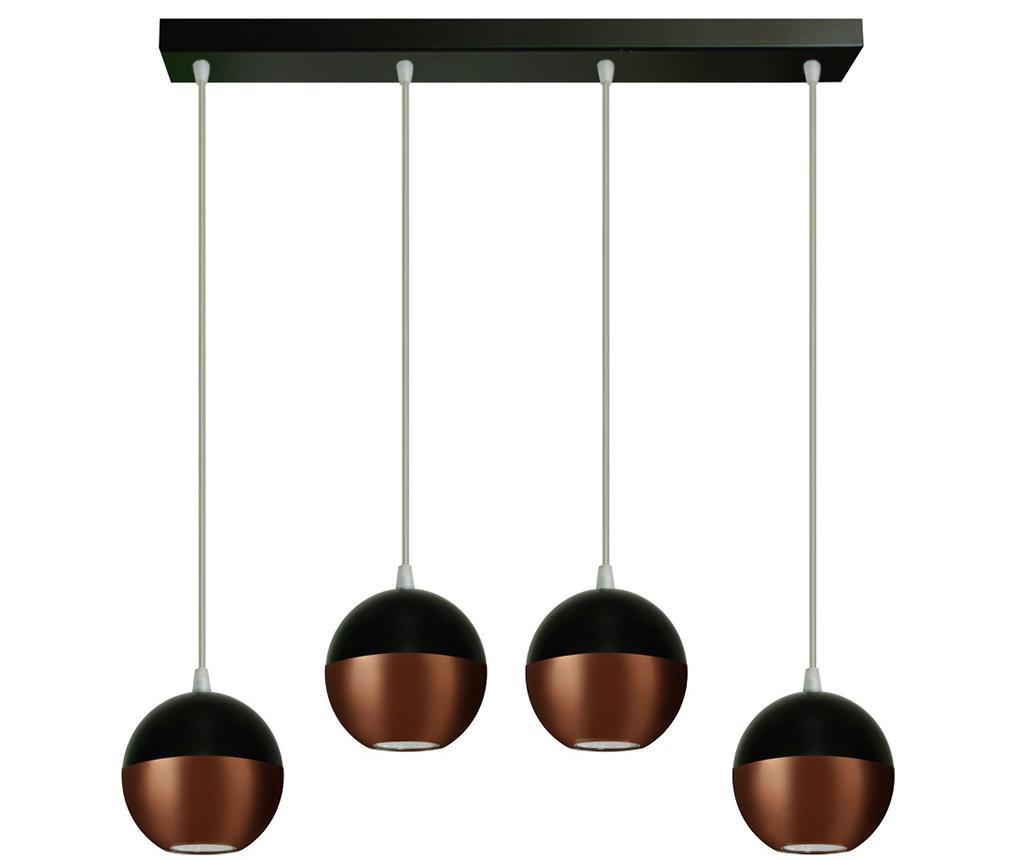Żyrandol Midway Wide  Four Black Copper
