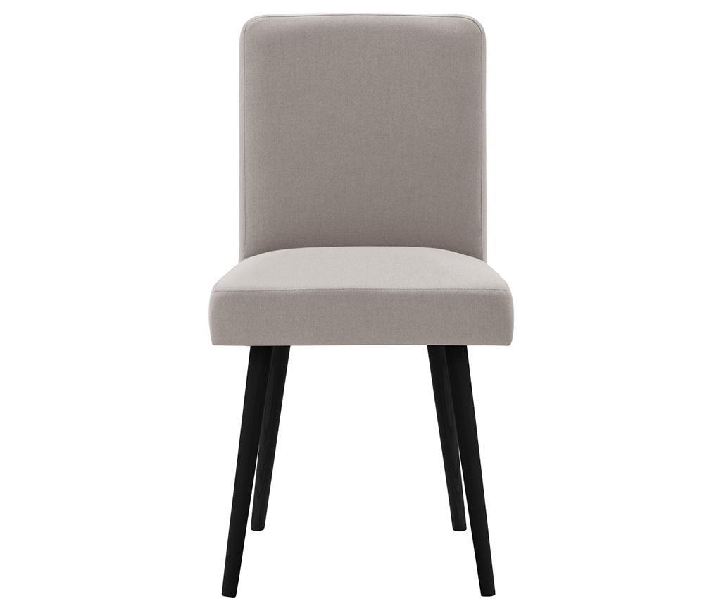 Set 2 scaune Fragrance Taupe Noir