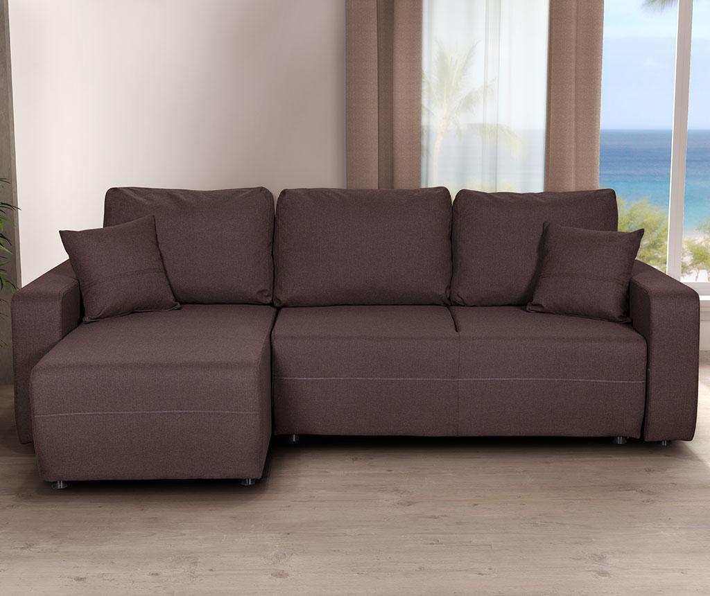 Obojestranska in raztegljiva kotna sedežna garnitura Amaretto Inari Dark Brown