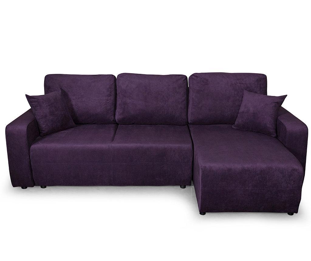 Reverzibilna kutna garnitura na razvlačenje Amaretto Orinoco Purple