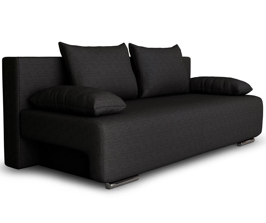 Rozkładana kanapa trzyosobowa Georgia Etna Dark Grey