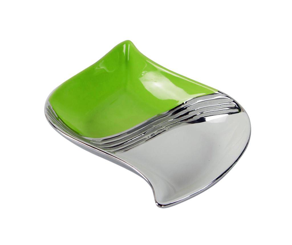 Equinoxe Green Silver Dísztál