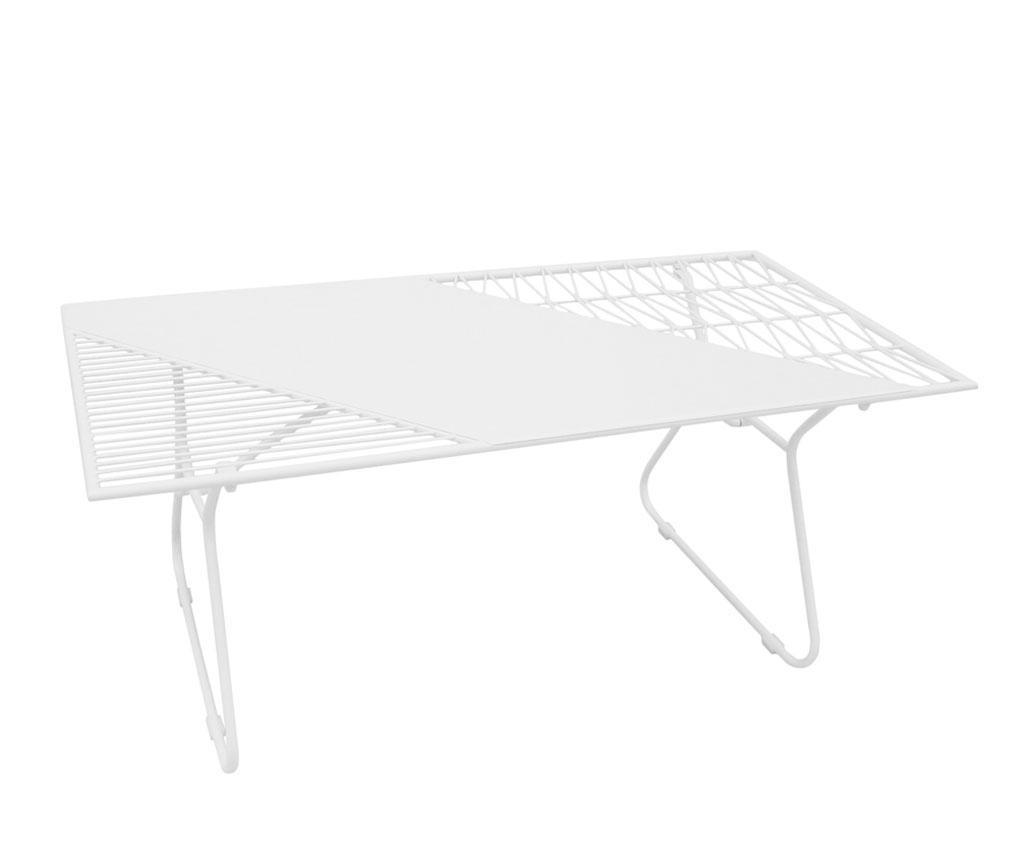 Exteriérový konferenčný stolík Art de Fer White