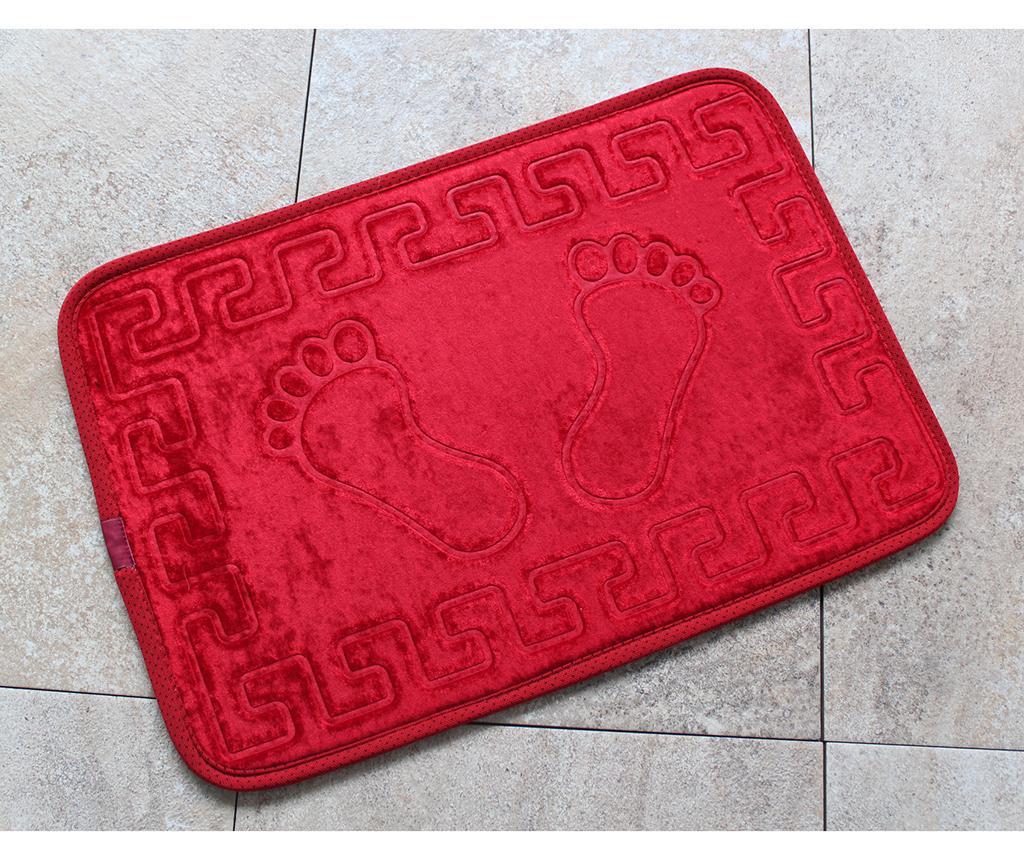 Covoras de baie Ayaki Red 40x60 cm