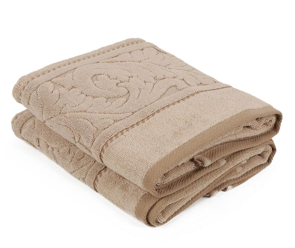 Sada 2 uterákov Sultan  Beige 50x90 cm