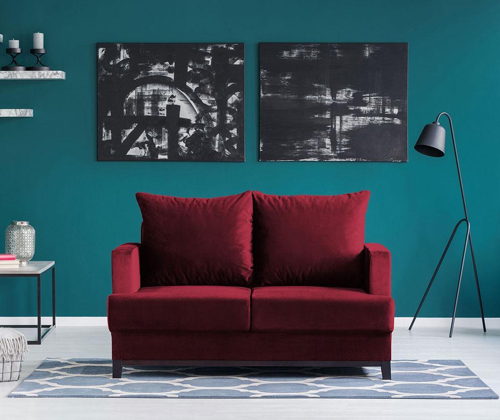 Canapea 2 locuri Frederic Red Wine