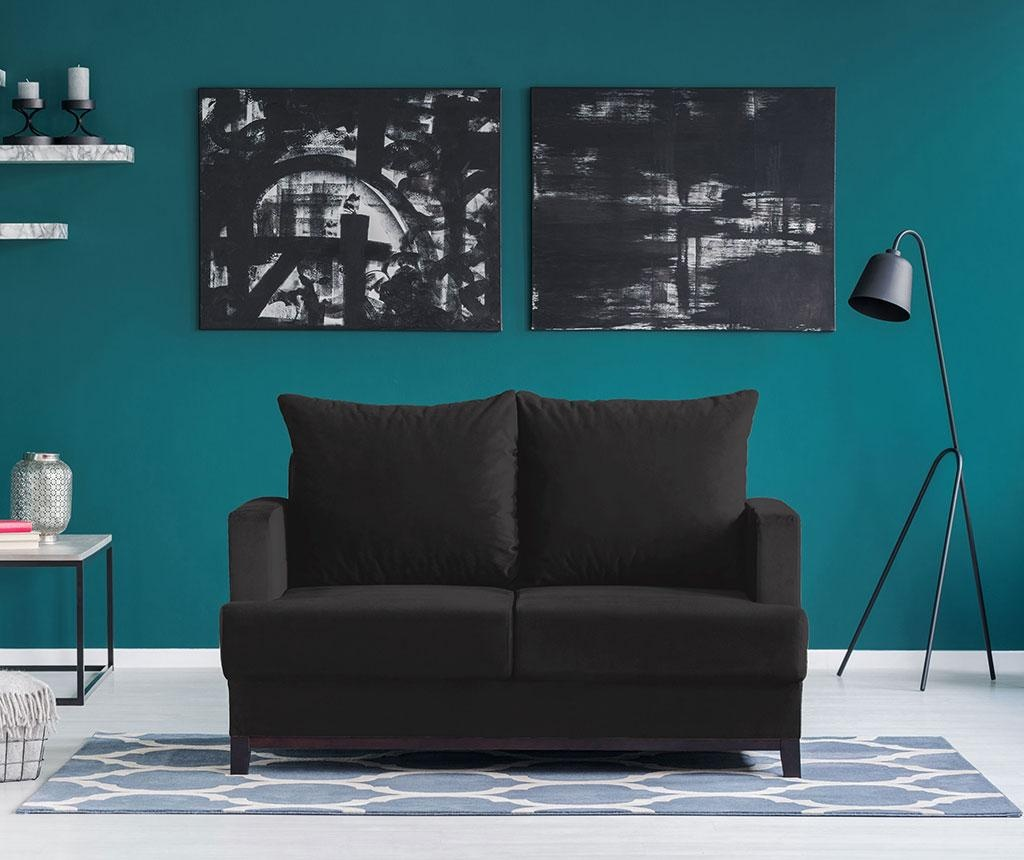 Canapea 2 locuri Frederic Black