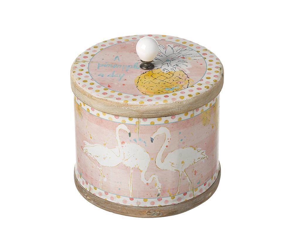 Škatla s pokrovom Flamingo Small