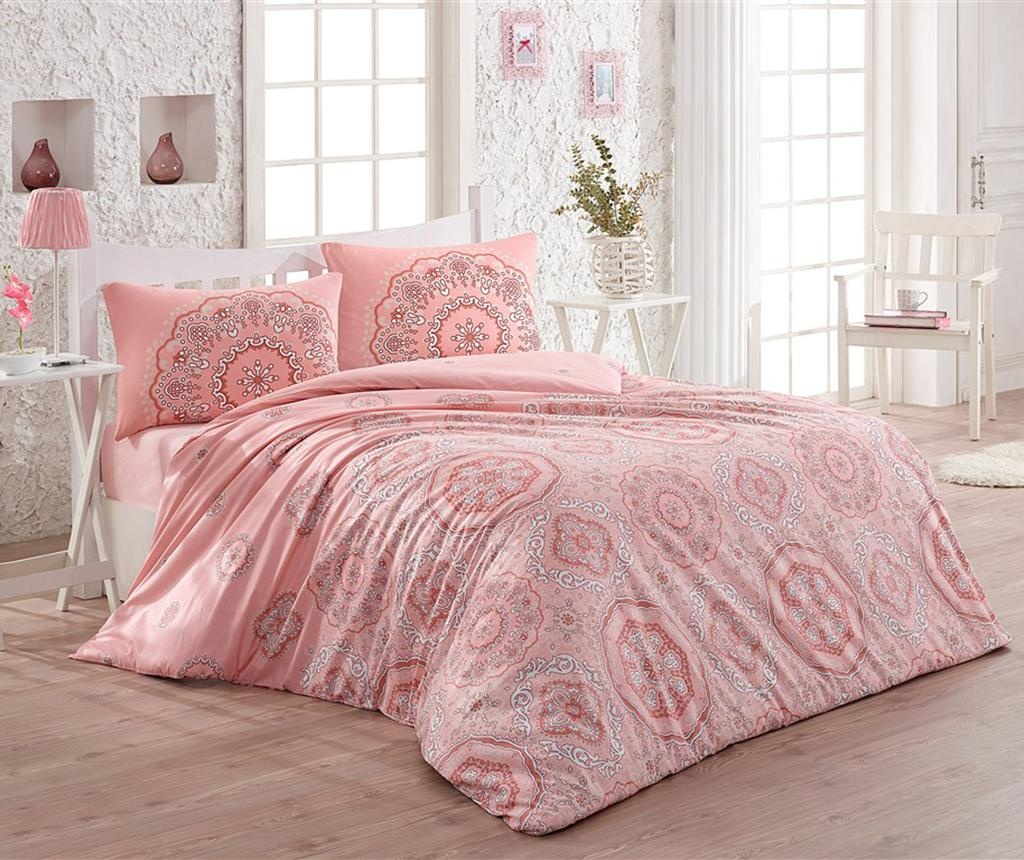 Posteljnina Single Ranforce Sehriban Dusty Pink