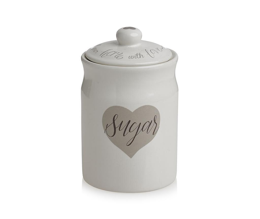 Posuda za spremanje šećera s poklopcem Love Heart 450 ml