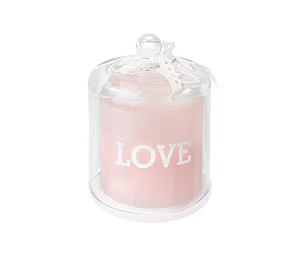 Mirisna svijeća s držačem Rose Cupid