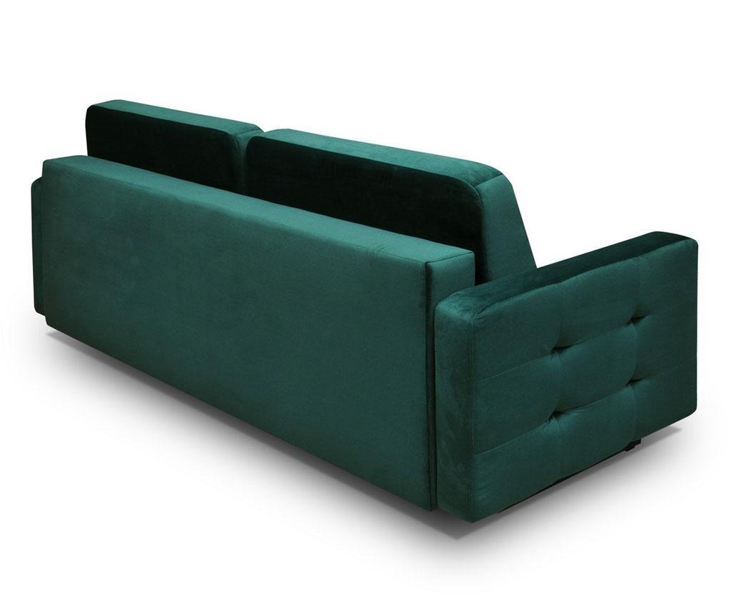 Canapea extensibila 3 locuri Vegas Dark Green