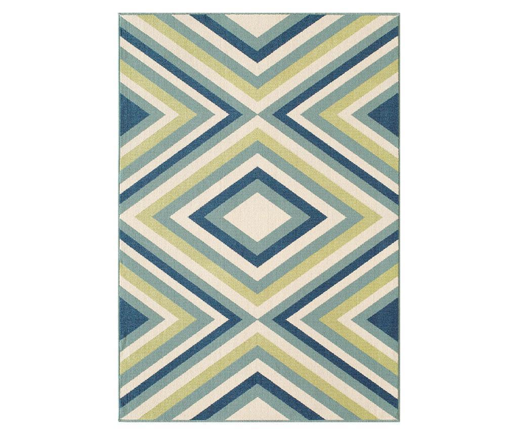 Tepih Rombi Blue & Green 133x190 cm