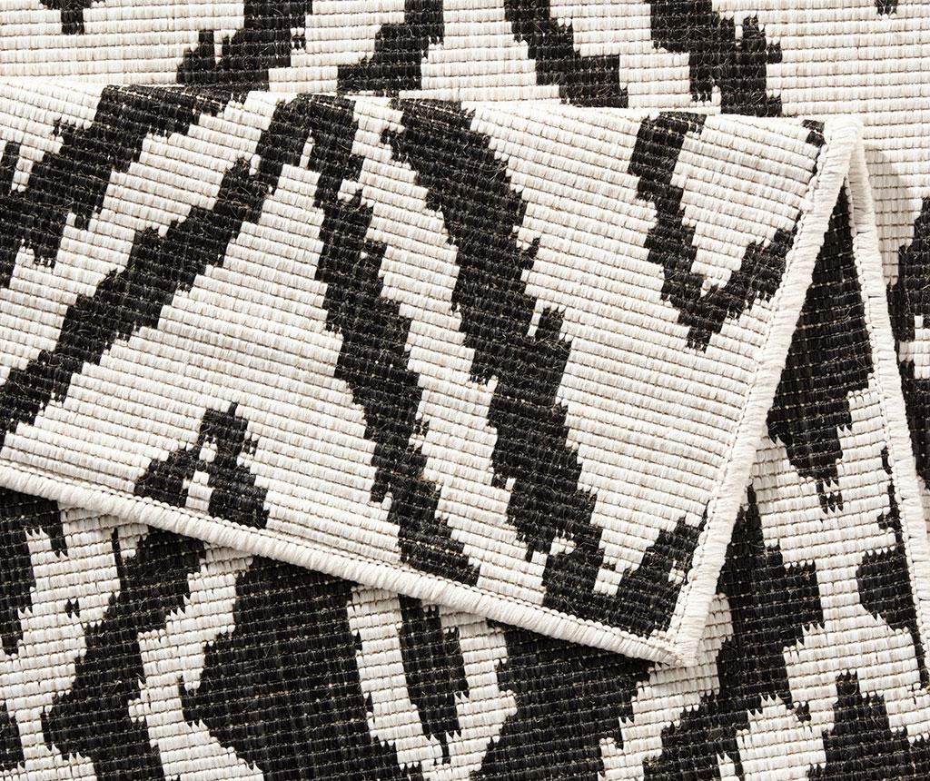Obojestranska preproga Twin Rio Black Cream 80x150 cm