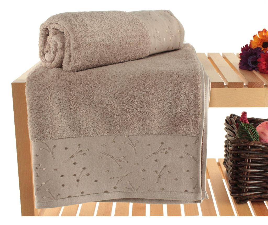 Set 2 prosoape de baie Bath Spring Brown 90x150 cm