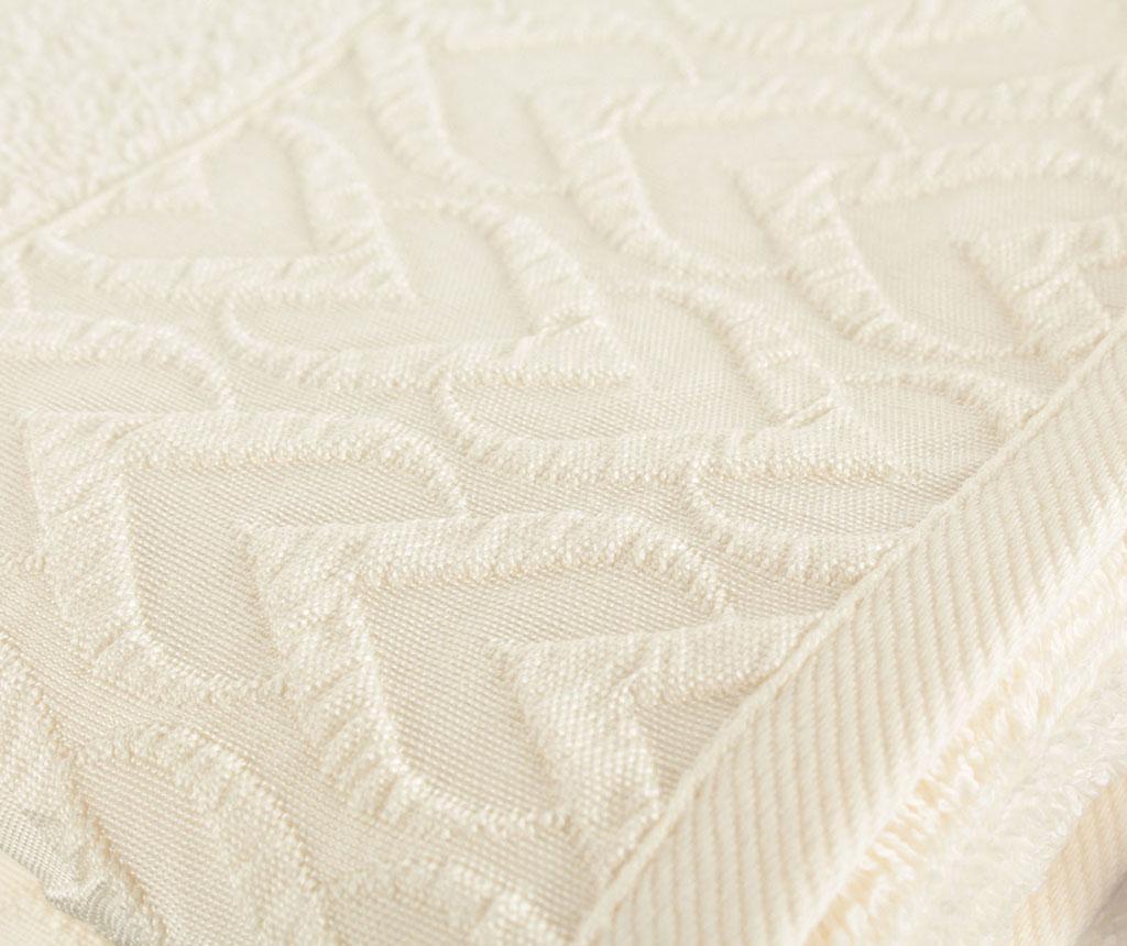 Set 2 prosoape de baie Persephone White 50x90 cm