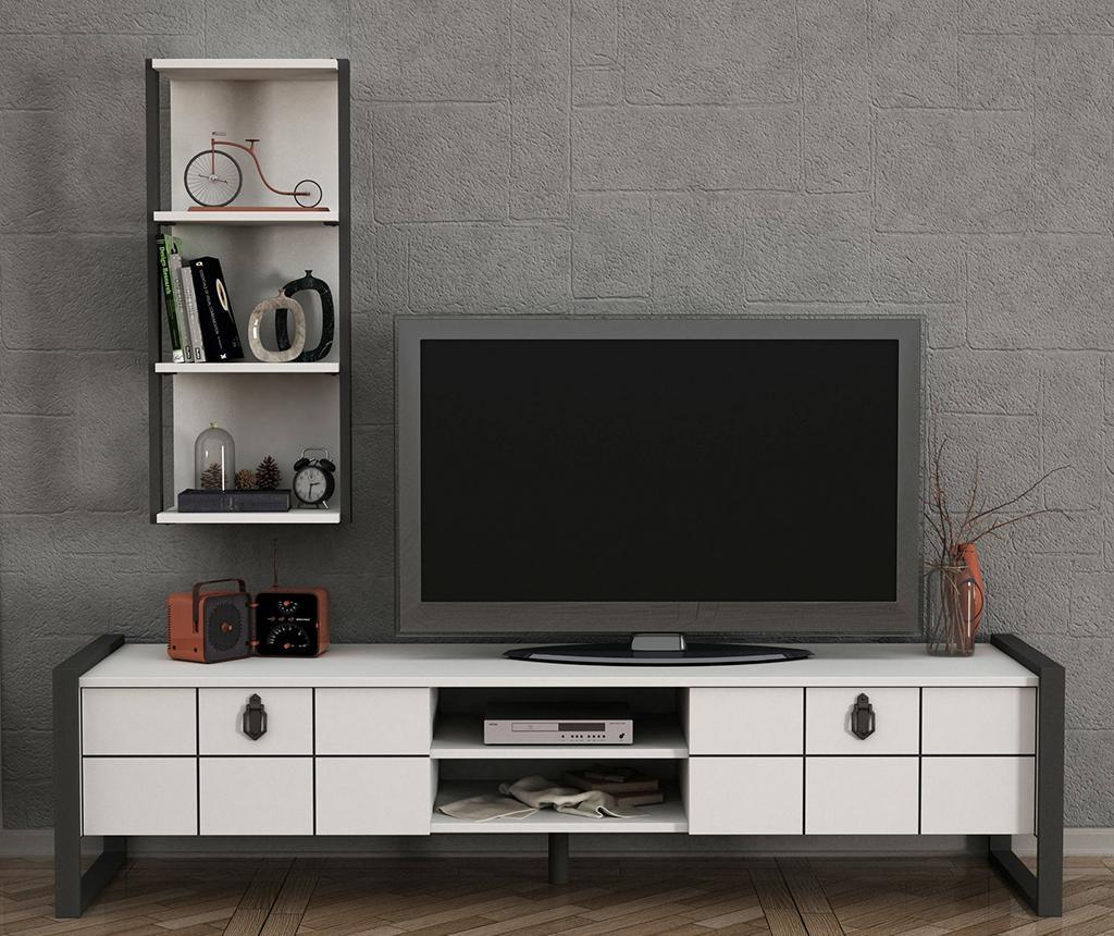 Set TV komoda in viseč element Lost White