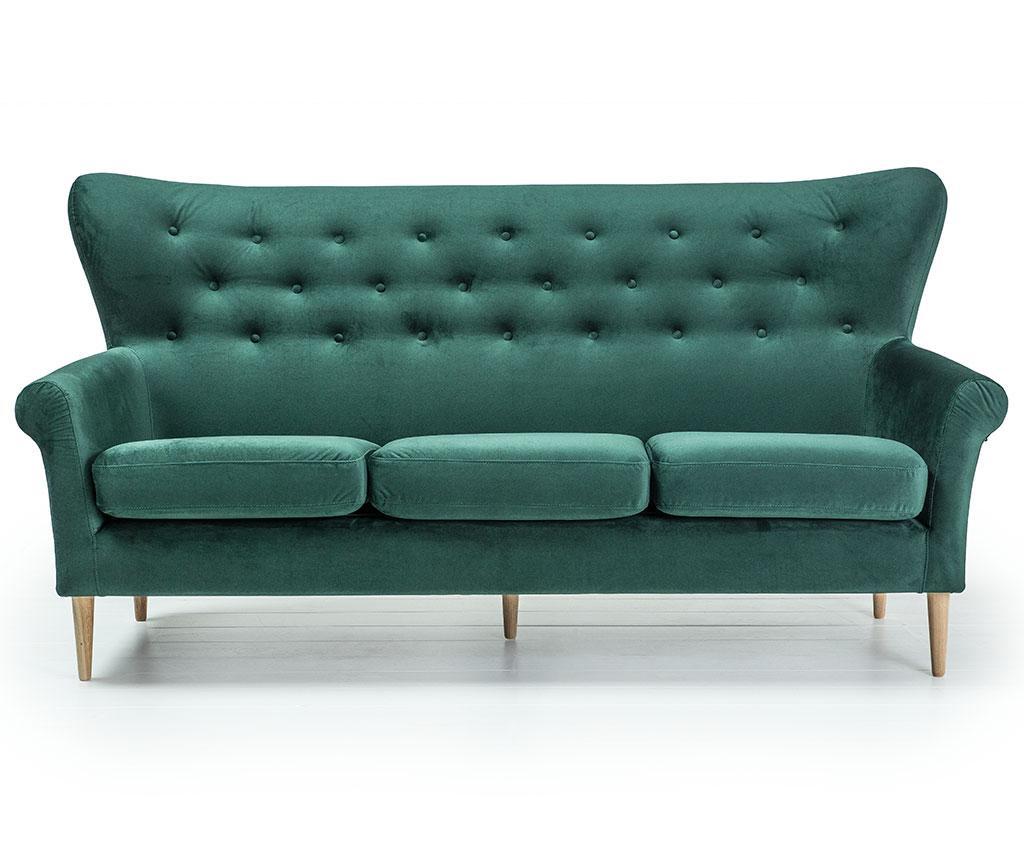 Canapea 3 locuri Amelie Dark Green
