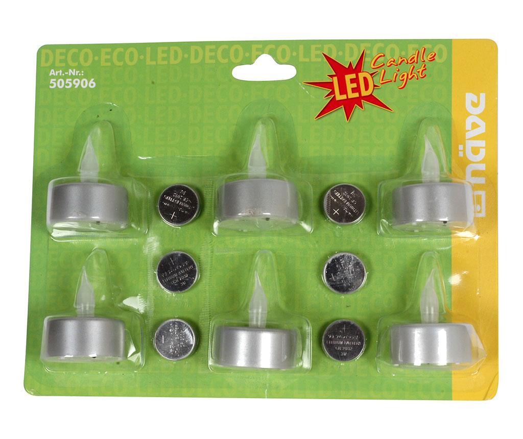Set 6 lumanari cu LED Dadu