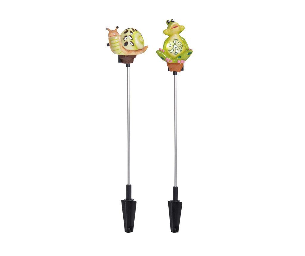 Set 2 lampi solare Frog & Snail