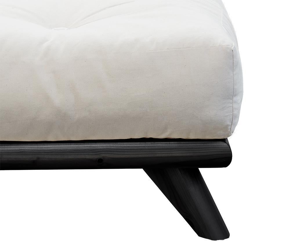 Легло Senza Black 160x200 см
