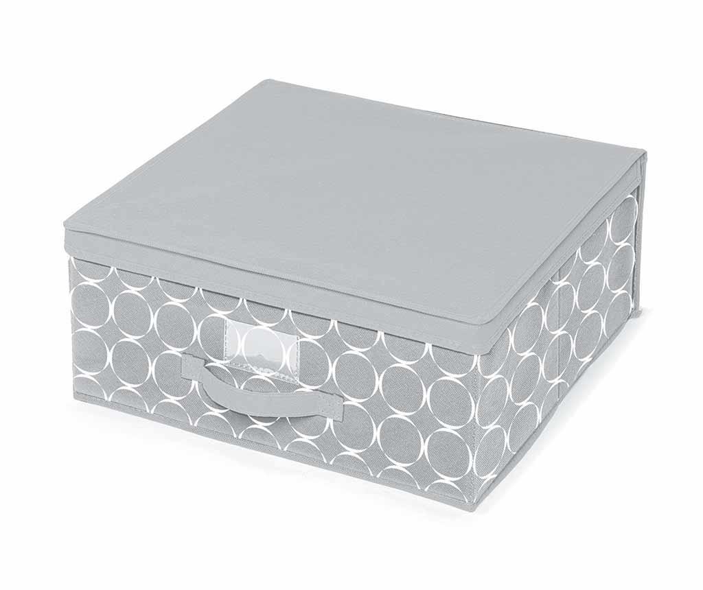 Pudełko z pokrywką do przechowywania Hoop Grey M