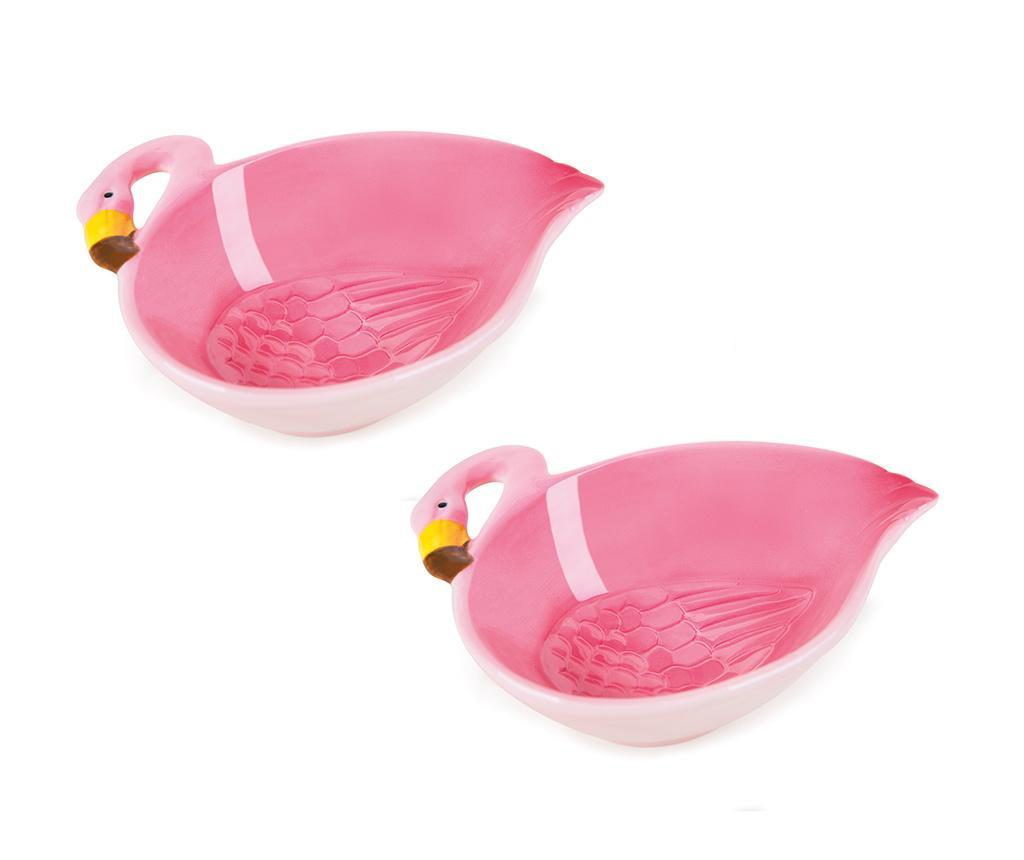 Set 2 boluri Tropical Flamingo 180 ml