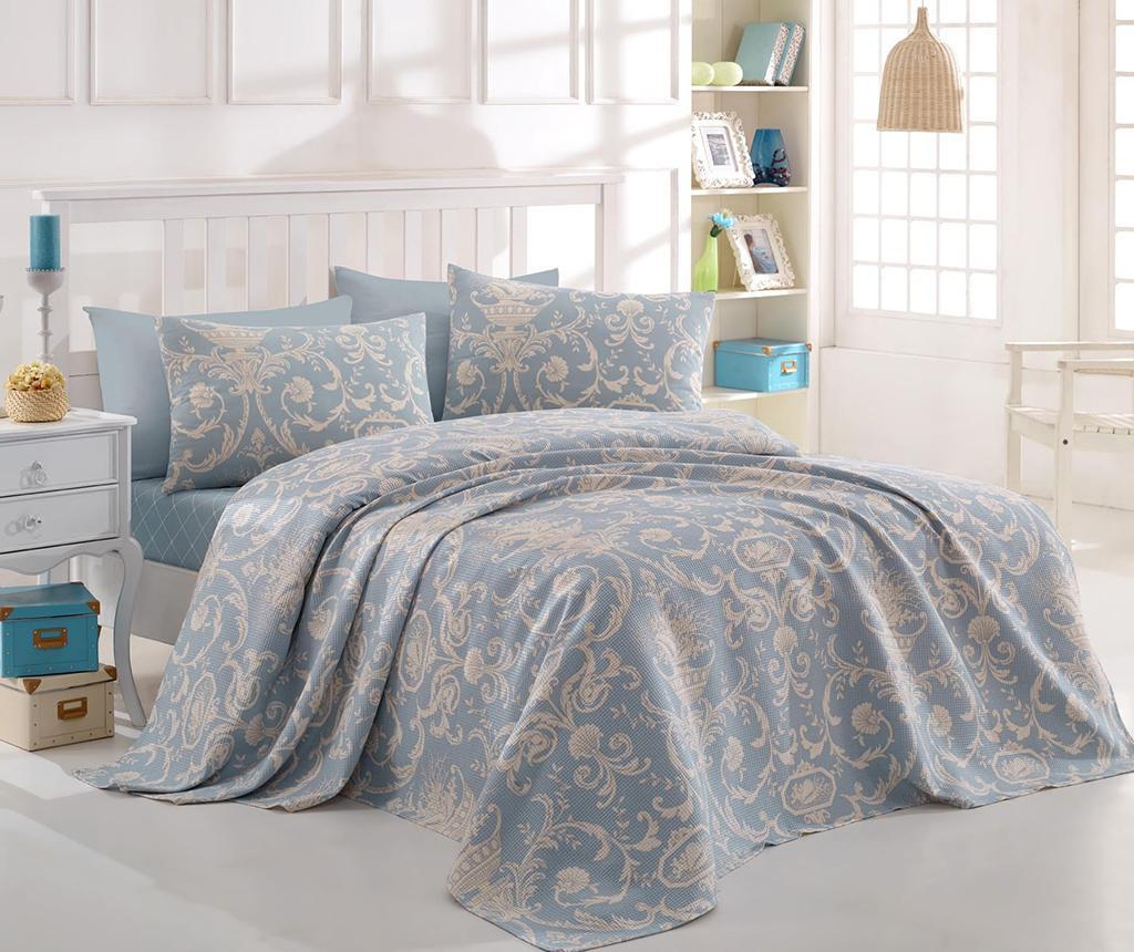 Prekrivač Pique Tuval Blue 200x235 cm