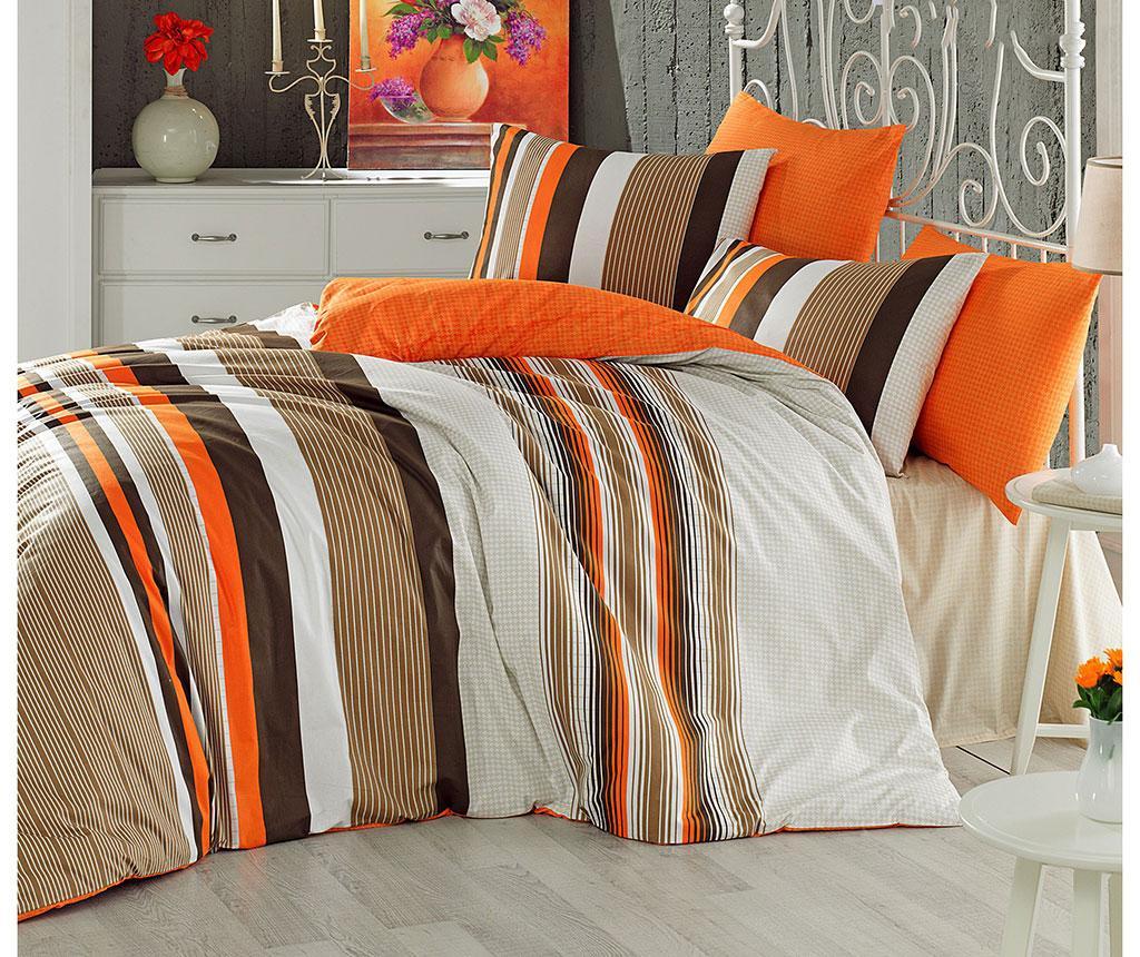 Posteljina King Ranforce Touch Orange