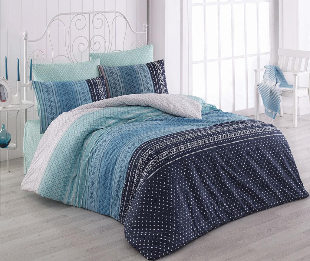 Спално бельо King Ranforce Summer Blue 200x220
