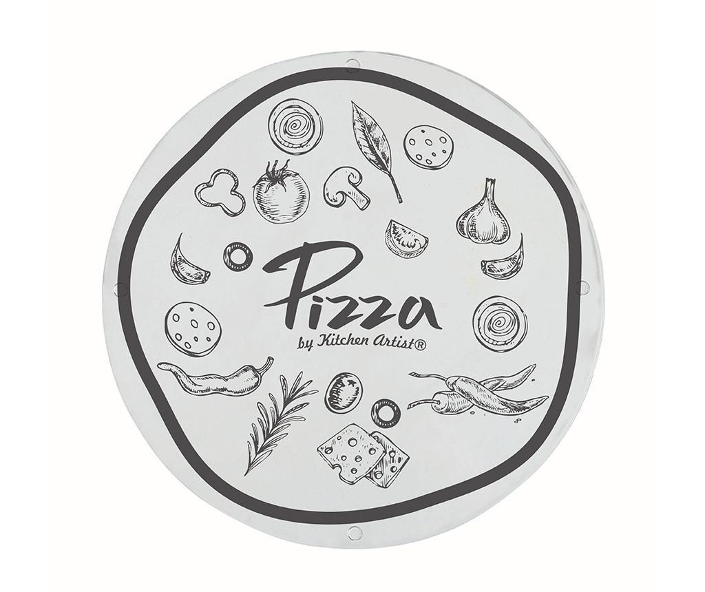 Set platou si 2 ustensile pentru pizza Food Moments